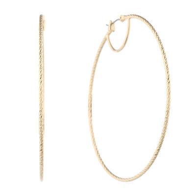 Liz Claiborne 70mm Hoop Earrings