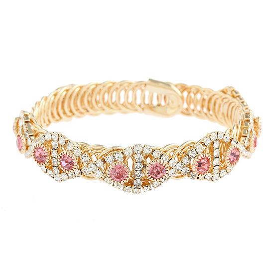 Monet Jewelry Womens Pink Wrap Bracelet