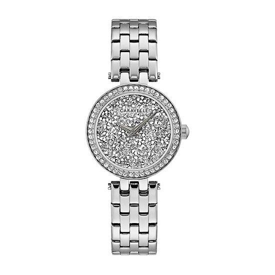 Caravelle Designed By Bulova Womens Silver Tone Stainless Steel Bracelet Watch-43l210