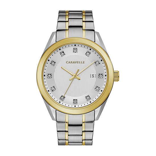 Caravelle Designed By Bulova Mens Two Tone Stainless Steel Bracelet Watch-45b154