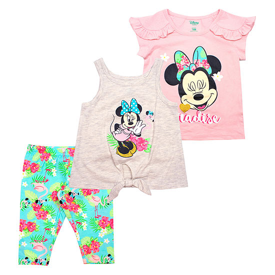 Disney 3 Pc Minnie Mouse Legging Set Toddler Girls