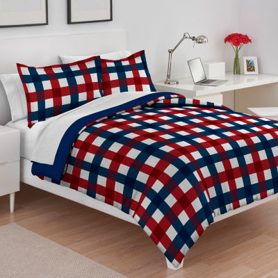 IZOD Buffalo Check Midweight Reversible Comforter Set