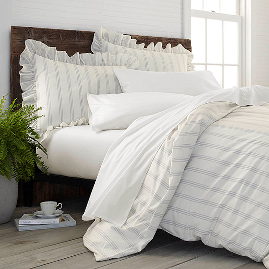 Ecopure Brooke Comfort Wash Stripes Midweight Comforter Set