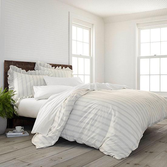 Ecopure Brooke Comfort Wash Stripes Duvet Cover Set
