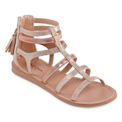 Arizona Little Kid/Big Kid Girls Peach Gladiator Sandals