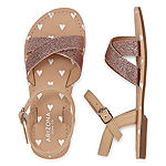 Arizona Girls Raisin Adjustable Strap Flat Sandals