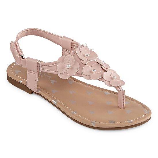 Arizona Big Kids Girls Bailey Adjustable Strap Flat Sandals