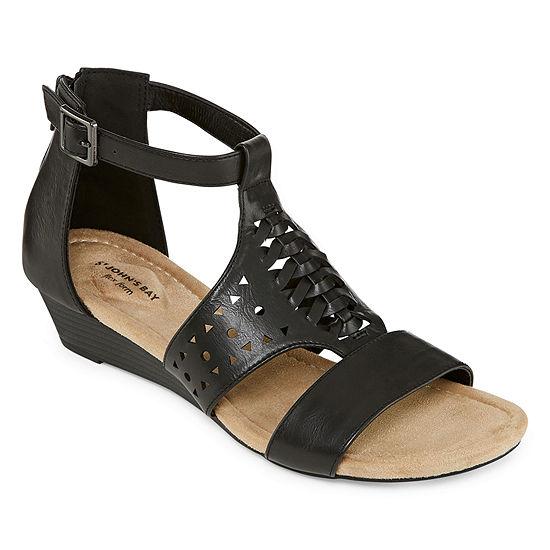 St. John's Bay Womens Noreen Wedge Sandals