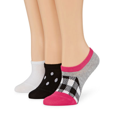 Xersion Plaid Sneaker 3 Pair Knit Liner Socks - Womens