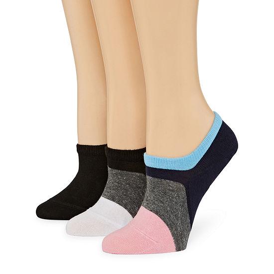 Xersion Colorblock Sneaker 3 Pair Knit Liner Socks - Womens