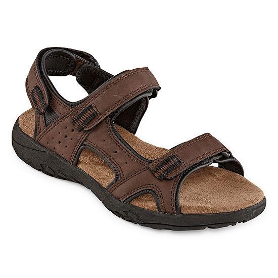Arizona Little/Big Kid Boys Az Cusack Jr. Adjustable Strap Flat Sandals