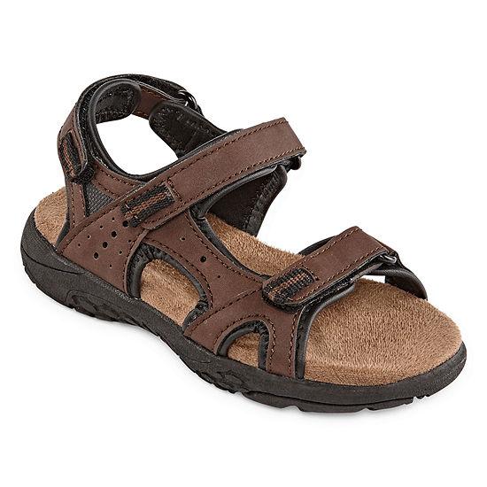 Okie Dokie Toddler Boys Lil Cusack Adjustable Strap Flat Sandals