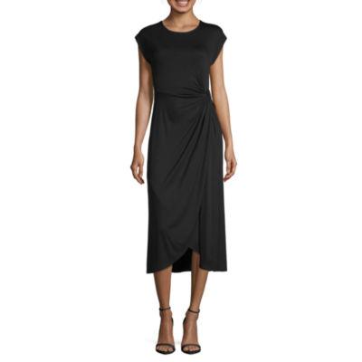 Spense Short sleeve Wrap Dress
