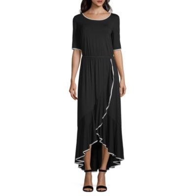 Spense Short Sleeve Maxi Dress
