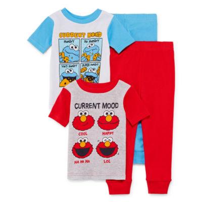 Sesame Street Elmo 4-pc Pajama Set- Boys