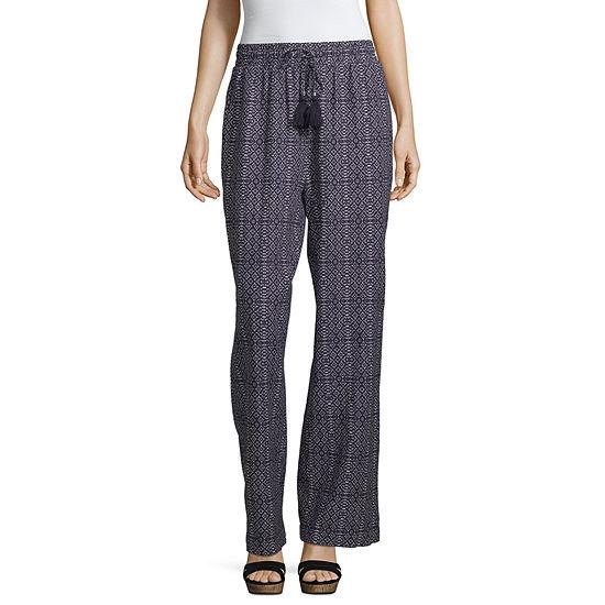 Artesia Womens Wide Leg Drawstring Pants