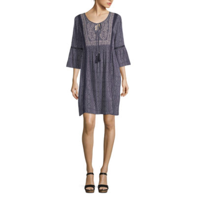 Artesia 3/4 Sleeve Peasant Dress