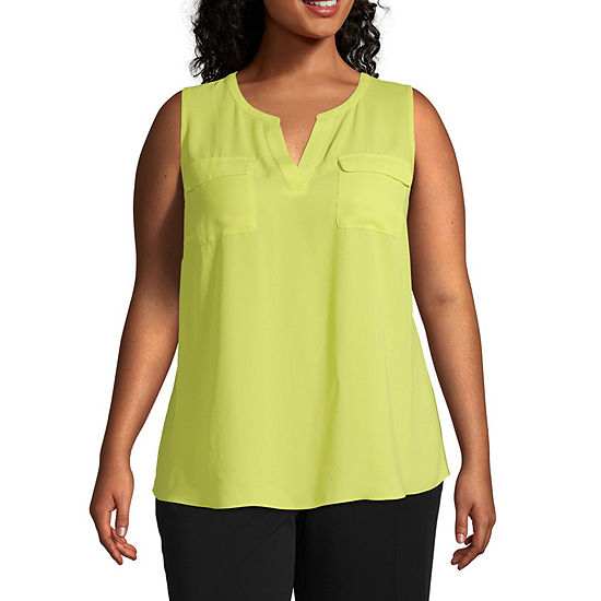 Sleeveless Popover Tank - Plus