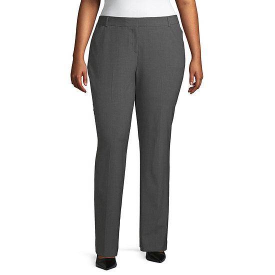 Worthington Womens Perfect Fit Trouser – Plus