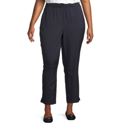 Liz Claiborne Side Slit Ankle Pant - Plus