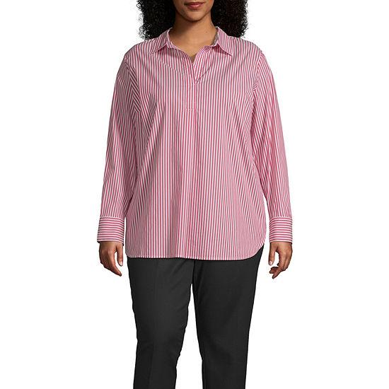 Liz Claiborne Long Sleeve Popover Tunic -  Plus