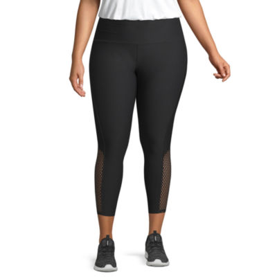 Xersion Mesh Inset Workout Capri – Plus