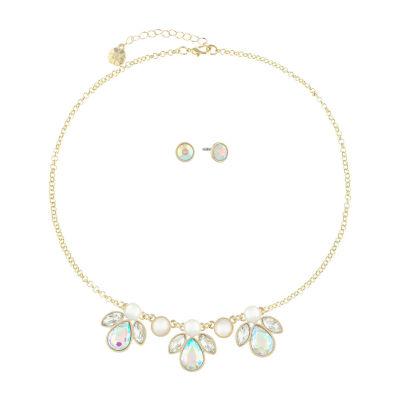 Monet Jewelry White Gold Tone 2-pc. Jewelry Set
