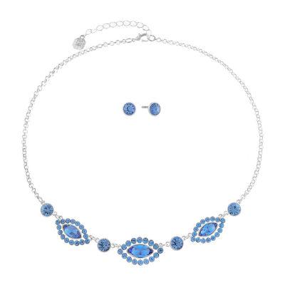 Monet Jewelry Blue Silver Tone 2-pc. Jewelry Set