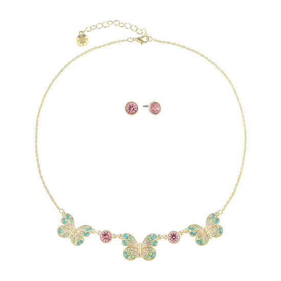 Monet Jewelry Butterfly 2-pc. Multi Color Jewelry Set