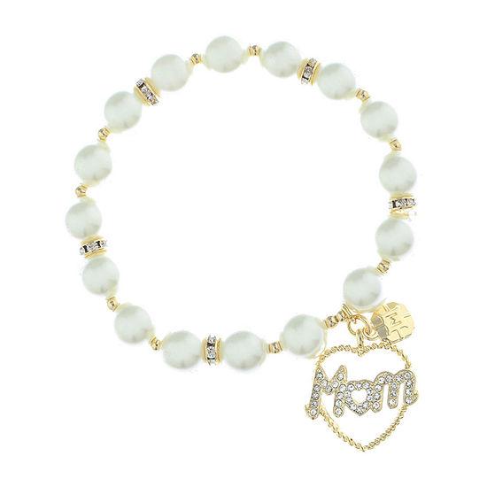 Monet Jewelry White Stretch Bracelet