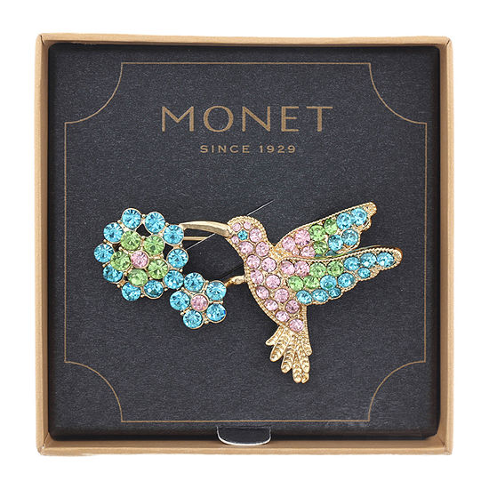 Monet Jewelry Hummingbird Multi Color Pin