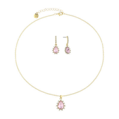 Monet Jewelry Pink Gold Tone 2-pc. Jewelry Set