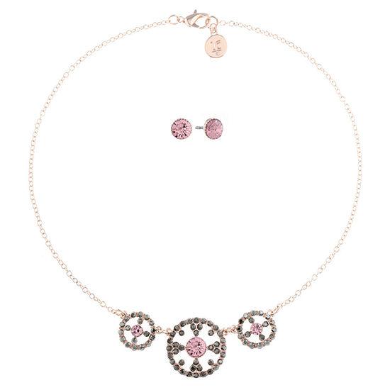 Liz Claiborne Pink Rose Tone 2 Pc Jewelry Set