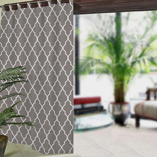 Elrene Corado Ogee Upf 50+ Indoor/Outdoor Light-Filtering Tab-Top Single Curtain Panel