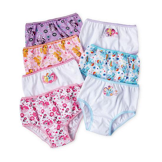 Little Kid Girls 7 Pair My Little Pony Brief Panty