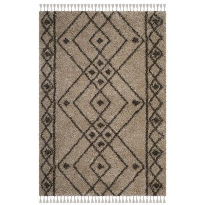 Safavieh Moroccan Fringe Shag Collection Anselmo Geometric Area Rug