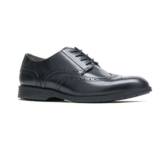 Hush Puppies Mens Shepsky Oxford Shoes Wing Tip