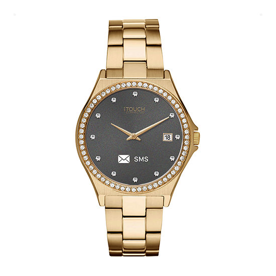 Itouch Connected Unisex Adult Gold Tone Stainless Steel Smart Watch-13887g-51-B27