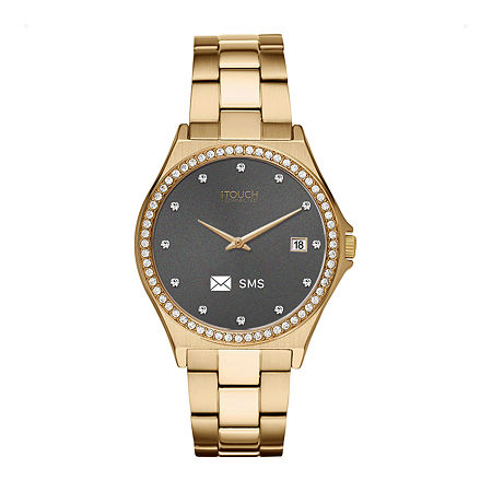 Itouch Connected Unisex Adult Gold Tone Stainless Steel Smart Watch-13887g-51-B27, One Size