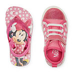 Disney Minnie Mouse 2 For 1 Toddler Girls Sneakers