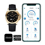 Itouch Itouch Connected Unisex Adult Black Leather Smart Watch-50050g-51-G02