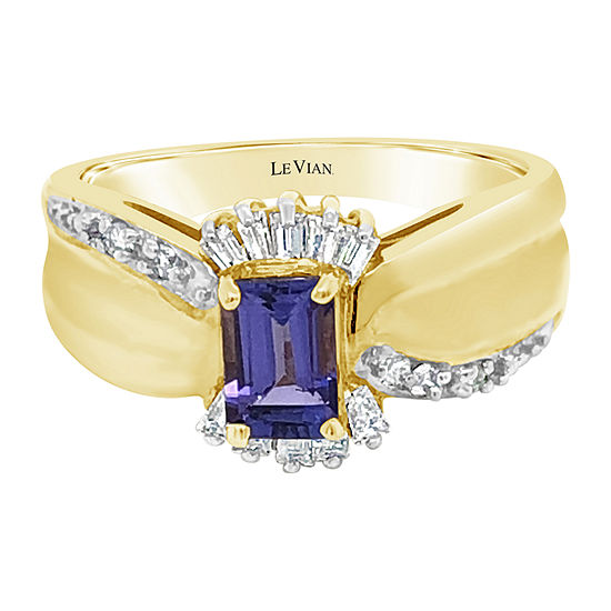 LIMITED QUANTITIES! Le Vian Grand Sample Sale™ Sale Ring featuring 5/8 CT. T.W. Blueberry Tanzanite® 1/4 CT. T.W. set in 14K Honey Gold™