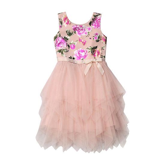 Lilt Big Girls Sleeveless Fit & Flare Dress
