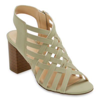 Liz Claiborne Womens Teagan Heeled Sandals
