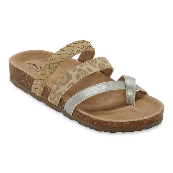Arizona Fabian Womens Adjustable Strap Footbed Sandals