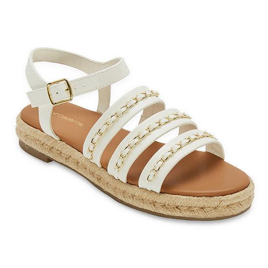 Liz Claiborne Womens Bumped Strap Sandals