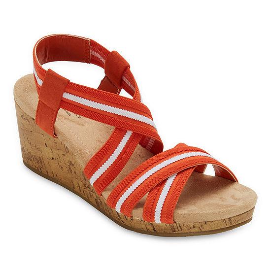 St. John's Bay Womens Dryden Wedge Sandals