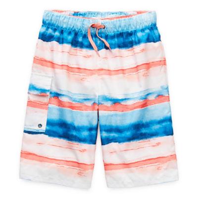 Peyton & Parker Little & Big Boys Striped Swim Trunks