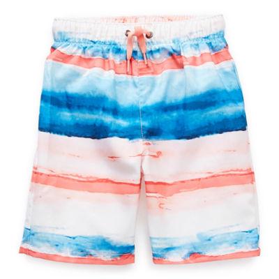 Peyton & Parker Toddler Boys Striped Swim Trunks