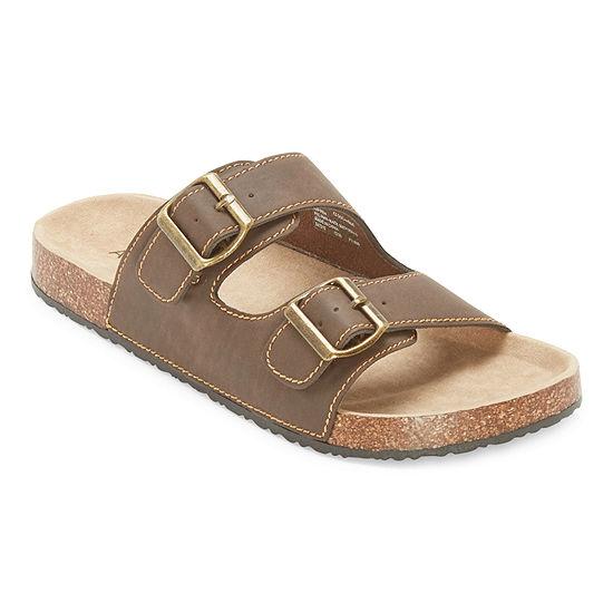 Arizona Oceanside Mens Adjustable Strap Footbed Sandals